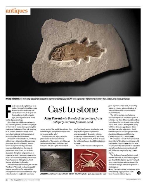 Cast to stone