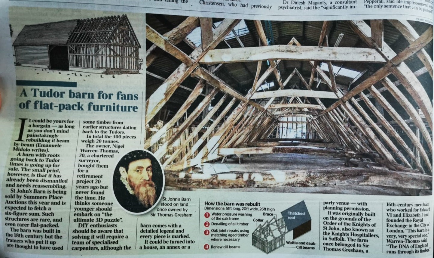 Summers Place Auctions to sell the ultimate 3D Puzzle - St John's Barn
